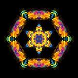 Абстрактная яркая красочная шестиугольная форма бесплатная иллюстрация
