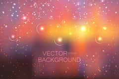 Абстрактная яркая предпосылка яркого блеска с маленькими звездами Стоковая Фотография RF