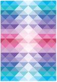 Абстрактная яркая пропуская предпосылка вектора треугольников Стоковое Изображение RF