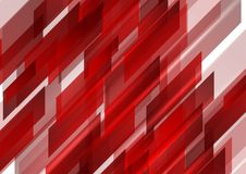 Абстрактная яркая сияющая красная предпосылка техника Стоковое Фото