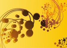 абстрактная динамически картина теплая Стоковая Фотография