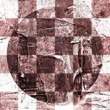 Абстрактная checkered картина покрашенная с красками acrylic или масла на холсте в коричневых и бежевых цветах Стоковые Изображения