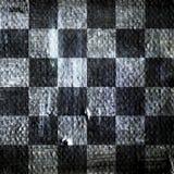 Абстрактная checkered картина покрашенная с красками acrylic или масла на холсте в черно-белых цветах Стоковые Фото