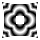 Абстрактная contrasty передернутая форма Стоковое Изображение RF