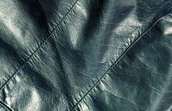 Абстрактная cyan кожаная текстура Стоковая Фотография