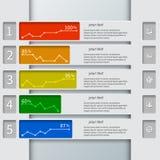 Абстрактная 3D бумага Infographics Стоковое фото RF