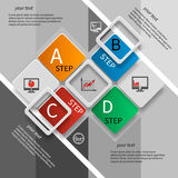 Абстрактная 3D бумага Infographics Стоковые Изображения