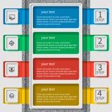 Абстрактная 3D бумага Infographics Стоковая Фотография RF
