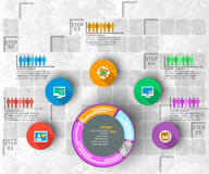 Абстрактная 3D бумага Infographics Стоковые Изображения RF