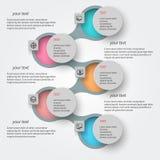 Абстрактная 3D бумага Infographics Стоковые Фотографии RF