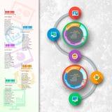 Абстрактная 3D бумага Infographics Стоковое Фото