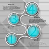 Абстрактная 3D бумага Infographics Стоковая Фотография