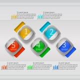 Абстрактная 3D бумага Infographics Стоковое Изображение