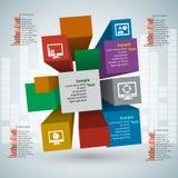 Абстрактная 3D бумага Infographics Стоковое Изображение RF