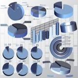 Абстрактная 3D бумага Infographics Стоковые Фото