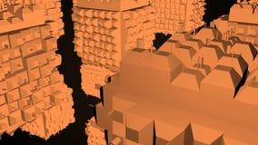 Абстрактная greeble поверхность кубов на черной предпосылке перевод 3d видеоматериал