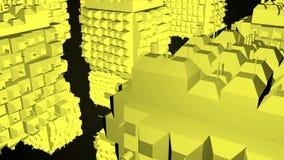 Абстрактная greeble поверхность кубов на черной предпосылке перевод 3d сток-видео