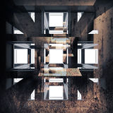 Абстрактная grungy внутренняя иллюстрация предпосылки Стоковое фото RF