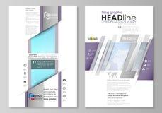 Абстрактная minimalistic иллюстрация вектора editable плана дизайна модель-макета 2 современного страниц графика блога бесплатная иллюстрация
