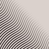 Абстрактная monochrome волна выравнивает striped картиной вектор полутонового изображения иллюстрация штока