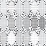 Абстрактная monochrome геометрическая безшовная картина бесплатная иллюстрация
