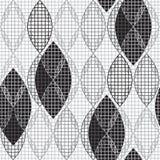 Абстрактная monochrome геометрическая безшовная картина иллюстрация штока