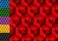 Абстрактная monochrome картина с перекрывая квадратами Безшовные 3 Стоковое Фото