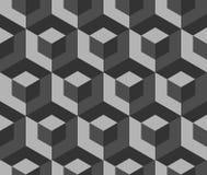 Абстрактная monochrome картина с перекрывая квадратами Безшовные 3 Стоковые Фото
