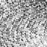 Абстрактная monochrome регулярн предпосылка мозаики плитки треугольника - современный дизайн вектора полигона градиента Стоковые Фотографии RF