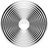 Абстрактная monochrome спираль, вортекс с радиальным, излучая круг Стоковая Фотография RF