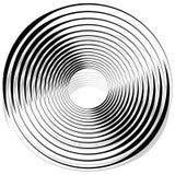 Абстрактная monochrome спираль, вортекс с радиальным, излучая круг Стоковое Изображение RF
