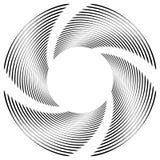 Абстрактная monochrome спираль, вортекс с радиальным, излучая круг Стоковое фото RF