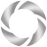 Абстрактная monochrome спираль, вортекс с радиальным, излучая круг Стоковые Фотографии RF