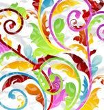 Абстрактная multicolor флористическая предпосылка Стоковые Фотографии RF