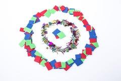 Абстрактная multicolor цель в белой предпосылке Стоковое Изображение