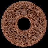 Абстрактная toroidal сетка 3D изолированная на черноте Стоковое Фото