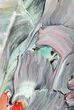 абстрактное акриловое произведение искысства Стоковое Изображение