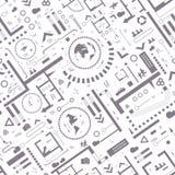 абстрактное архитектурноакустическое небо детали здания предпосылки иллюстрация вектора