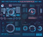 Абстрактное будущее, пользовательский интерфейс HUD касания вектора концепции футуристический голубой виртуальный графический Для Стоковая Фотография RF
