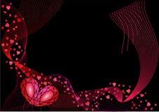 абстрактное Валентайн предпосылки s Стоковое Фото