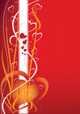 абстрактное Валентайн предпосылки s Стоковая Фотография RF