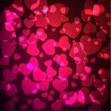 абстрактное Валентайн сердца s Стоковое Фото