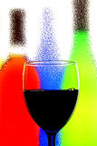 абстрактное вино предпосылки Стоковые Фото
