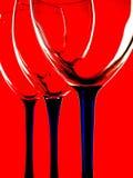 абстрактное вино стеклоизделия конструкции Стоковые Изображения