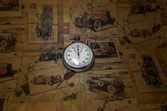 Абстрактное винтажное время схематическое Стоковое Изображение