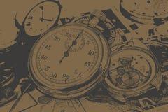 Абстрактное винтажное время схематическое Стоковое фото RF