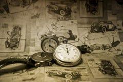 Абстрактное винтажное время схематическое Стоковое Фото