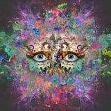 Абстрактное волшебное colorfull брызгает предпосылку Стоковое Изображение RF