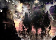 абстрактное время города Стоковое Фото
