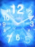 абстрактное время часов предпосылки Стоковые Фото